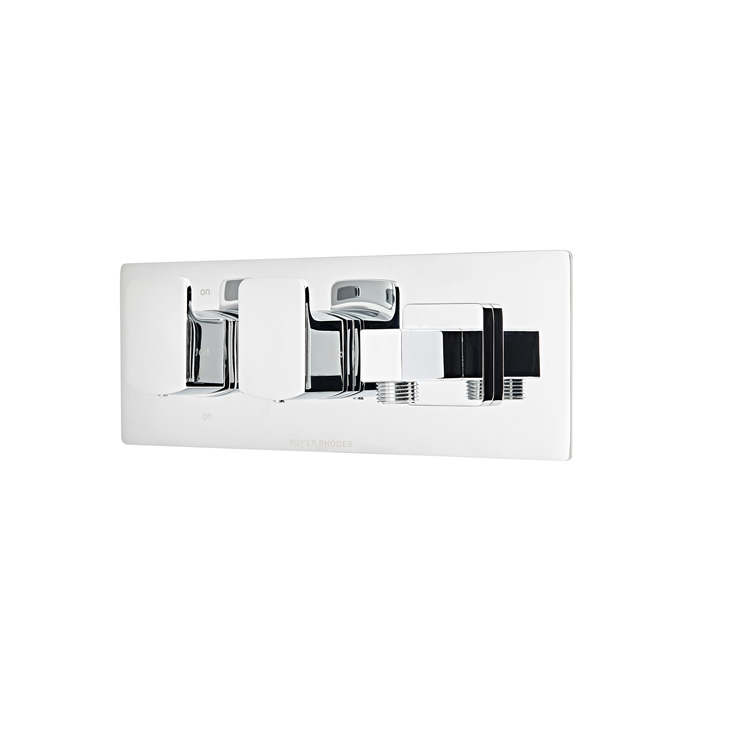 Photo of Roper Rhodes Sync Dual Function Shower Valve with Outlet Dimensions