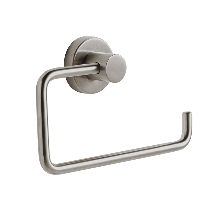 Photo of Bathroom Origins Tecno Project Brushed Nickel Open Toilet Paper Holder Cutout