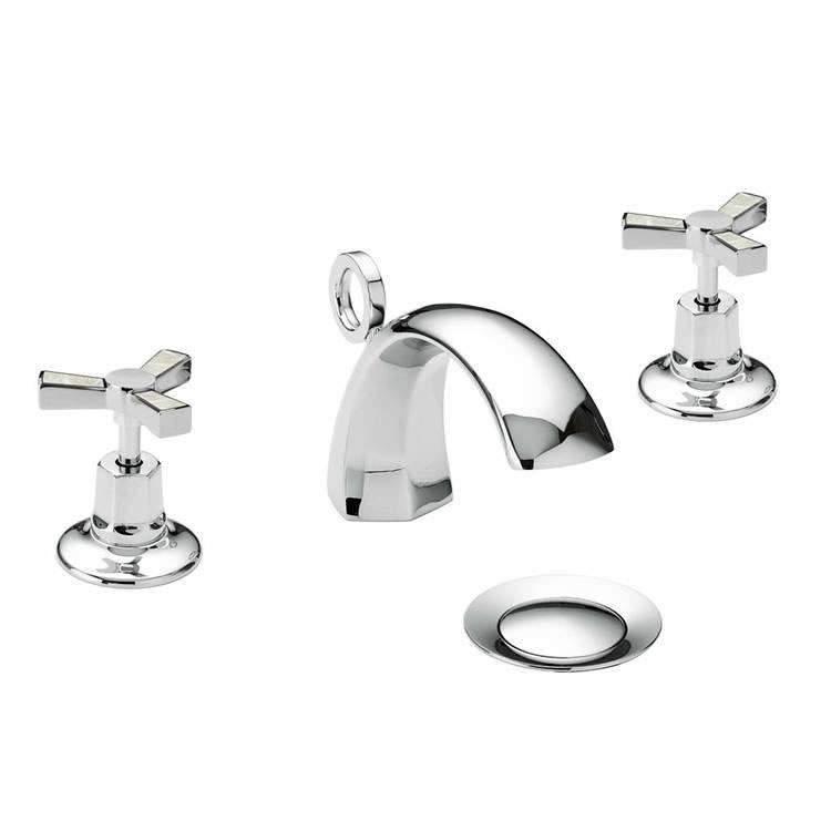 Photo of Heritage Gracechurch Mother Of Pearl 3 Tap Hole Basin Mixer