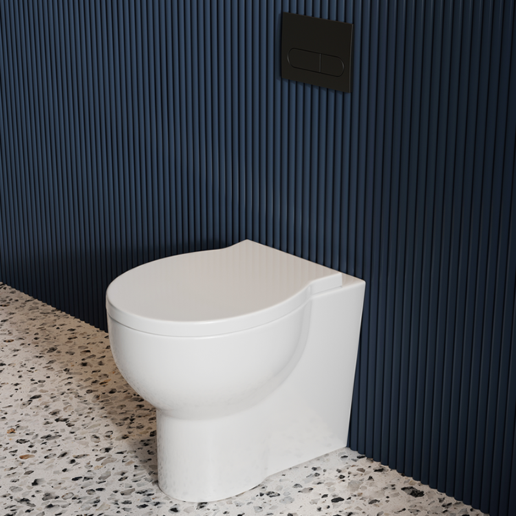 Photo of Britton Bathrooms Trim Back to Wall WC & Soft Close Seat Lifestyle image