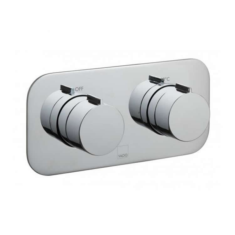 Vado Altitude Horizontal Twin Outlet Thermostatic Shower Valve Image 1