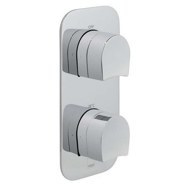 Vado Kovera Twin Dual Outlet Thermostatic Shower Valve Image 1