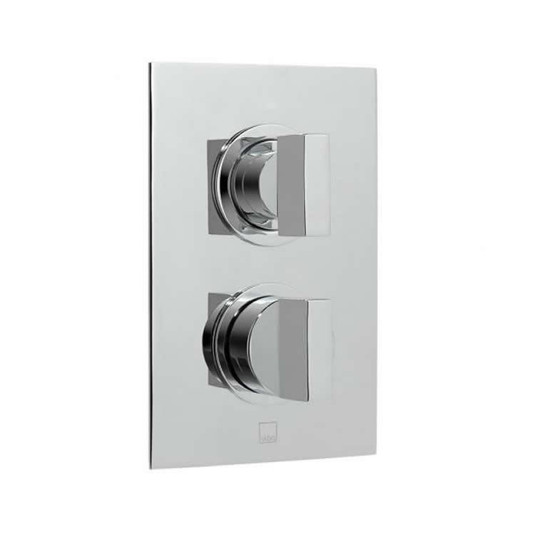 Vado Notion Twin Outlet Two Handle Thermostatic Shower Valve