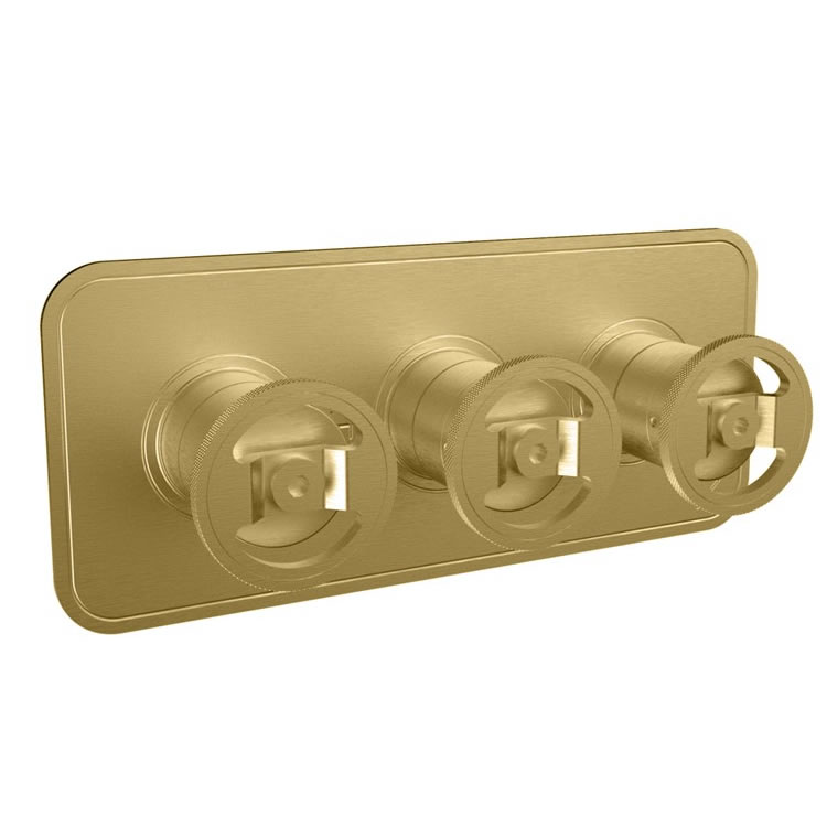 Photo Of Crosswater Union Brushed Brass Landscape Shower Valve With 2 Way Diverter