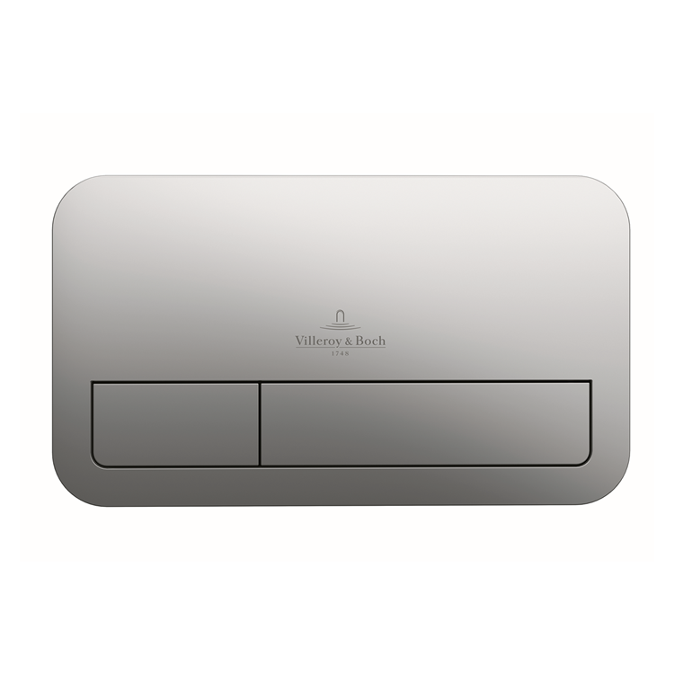 Photo of Villeroy and Boch Viconnect E200 Brushed Chrome Dual Flush Plate Cutout