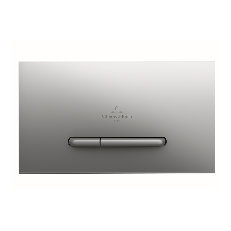 Photo of Villeroy and Boch Viconnect E300 Brushed Chrome Dual Flush Plate Cutout
