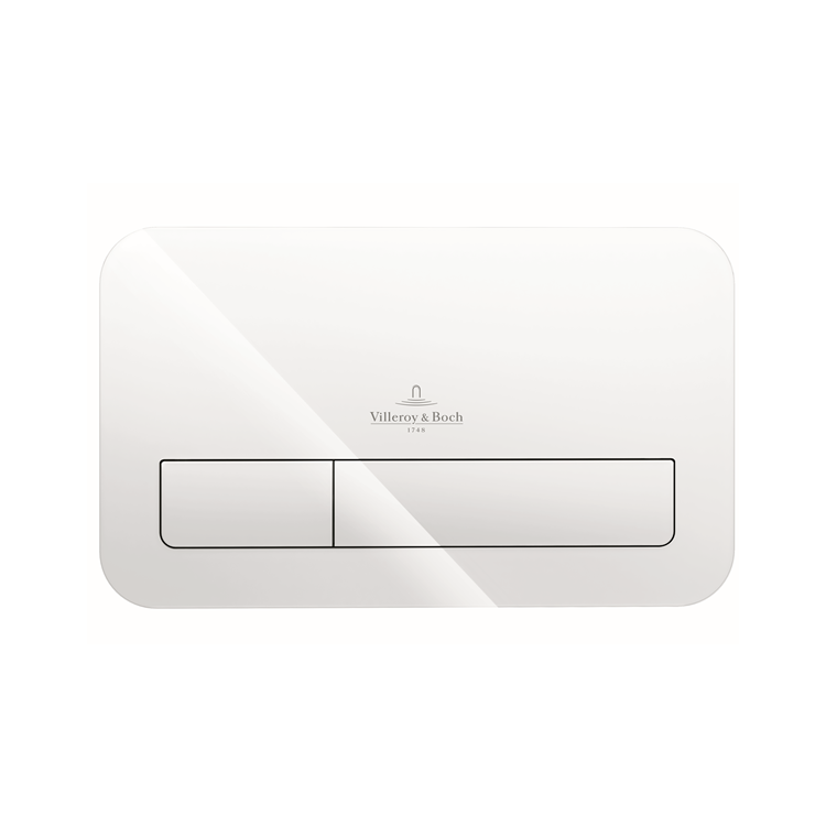 Photo of Villeroy and Boch Viconnect M200 Glass Gloss White Dual Flush Plate
