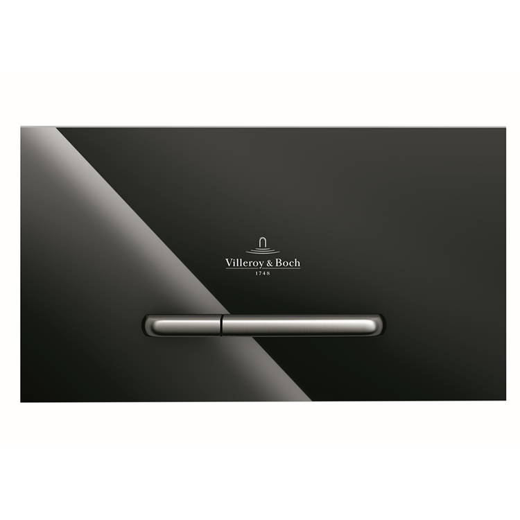 Photo of Villeroy and Boch Viconnect M300 Glass Gloss Black Dual Flush Plate