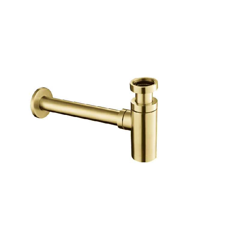 Photo of JTP Vos Brushed Brass Bottle Trap Cutout