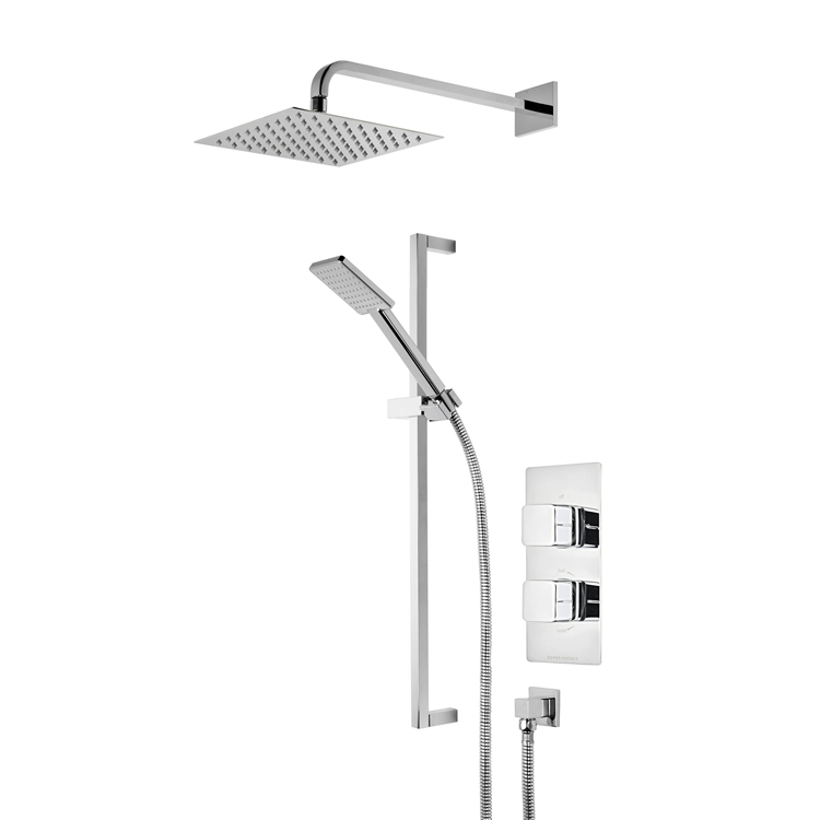 Photo of Roper Rhodes Veer Dual Function Shower with Fixed Head & Riser Rail