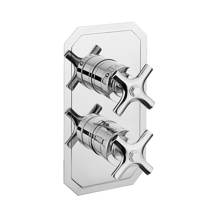 Photo of Crosswater Waldorf Crosshead 2 Outlet 2 Handle Concealed Shower Valve Cutout