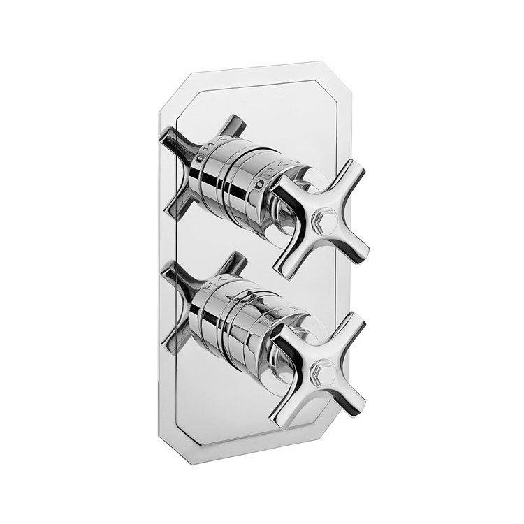 Photo of Crosswater Waldorf Crosshead 3 Outlet 2 Handle Concealed Shower Valve Cutout