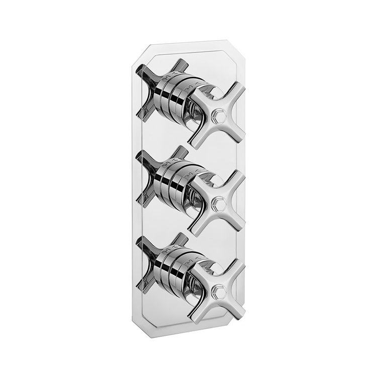 Photo of Crosswater Waldorf Crosshead 2 Outlet 3 Handle Concealed Shower Valve Cutout