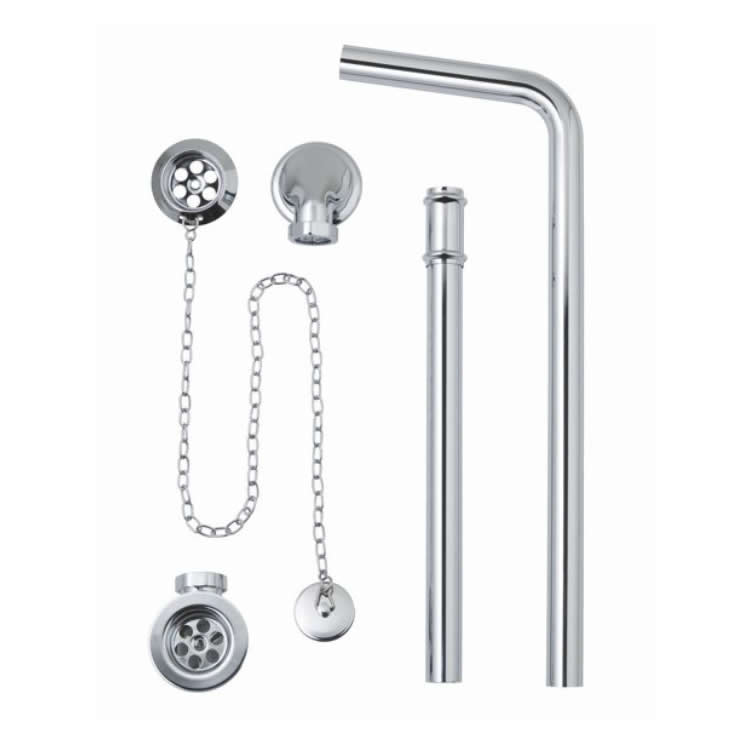 BC Designs Exposed Plug & Chain Bath Waste With Overflow Pipe