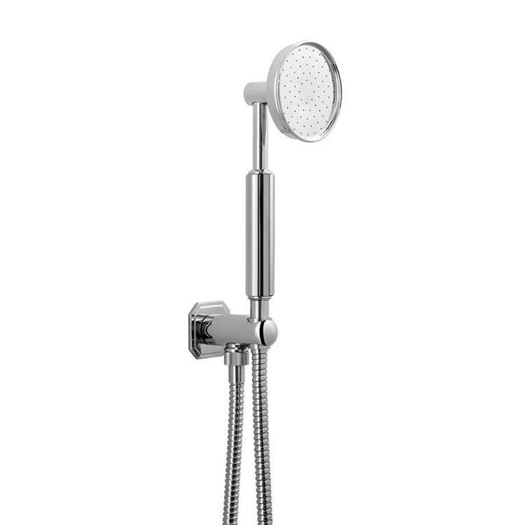 Crosswater Waldorf Shower Handset With Chrome Handle, Wall Outlet & Hose Image 1