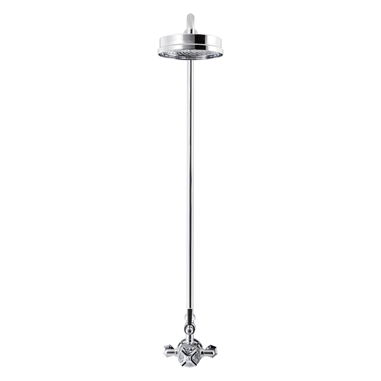 Photo of Crosswater Waldorf Black Lever Thermostatic Shower Kit