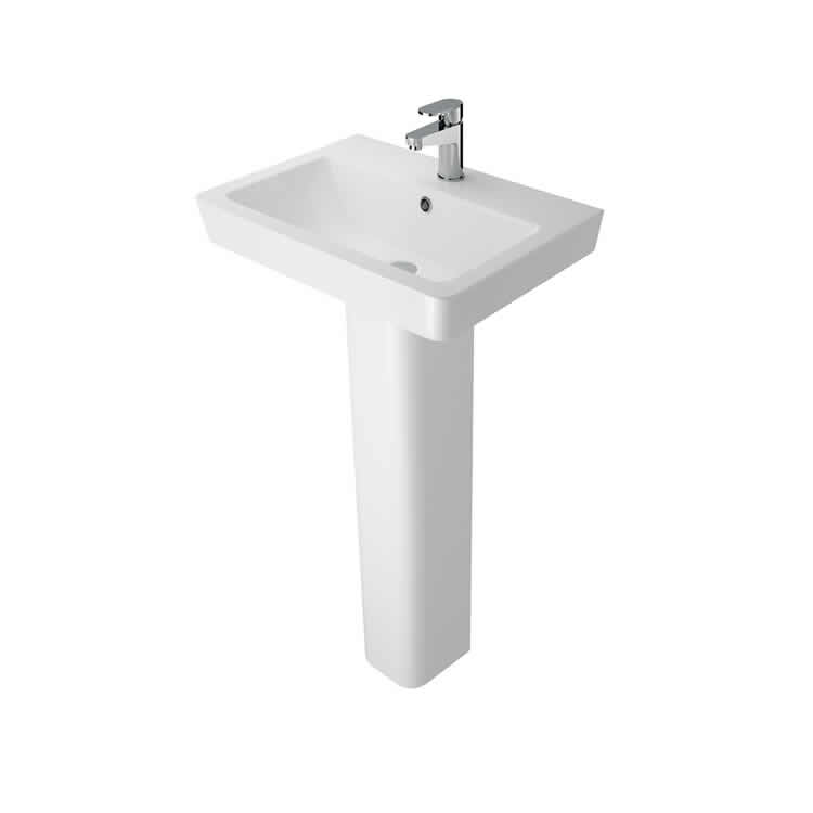 Photo of The White Space 600mm Basin & Full Pedestal