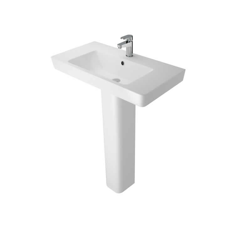 Photo of The White Space 800mm Basin & Full Pedestal