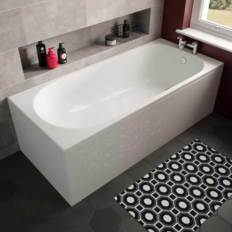 Photo of The White Space Arnold 1800 x 800mm Single Ended Bath