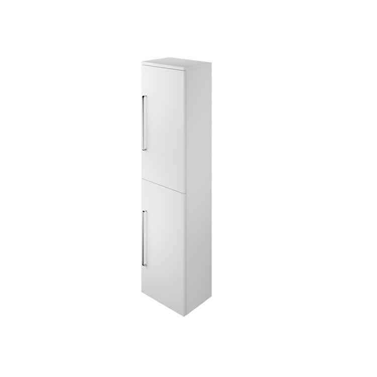 Photo of The White Space Tall Wall Hung Two Door Unit - Gloss White Finish