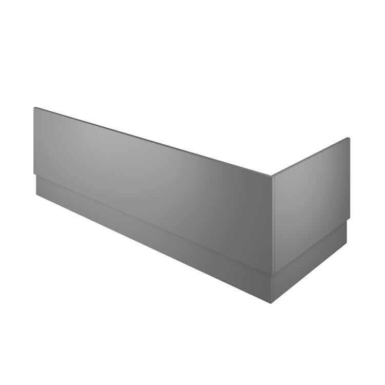 Photo of The White Space Gloss Ash Grey 1700mm Front Bath Panel