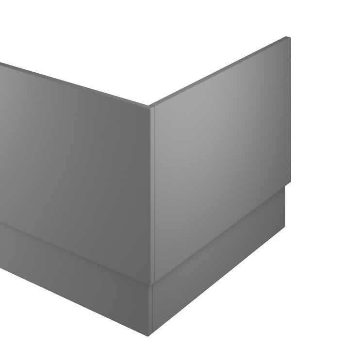 Photo of The White Space Gloss Ash Grey 700mm End Bath Panel