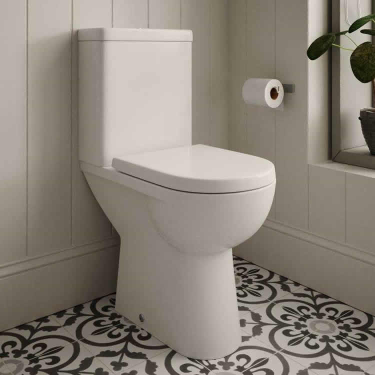 The White Space Closed Coupled Comfort Height Toilet