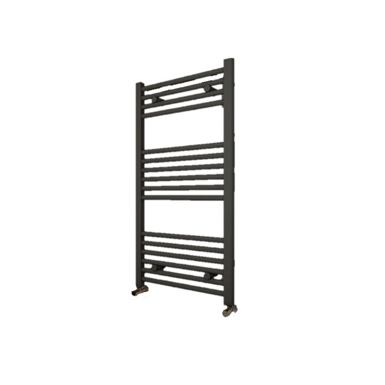 Image Cut Out of Eastbrook Wingrave Matt Anthracite Radiator on white background