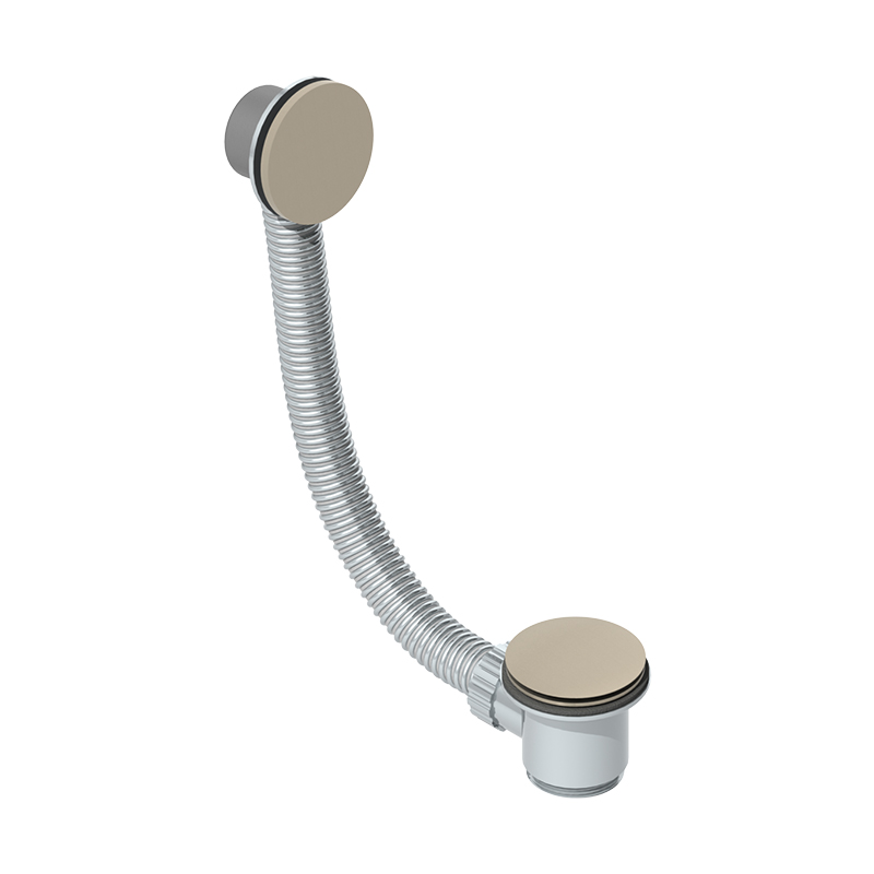 Photo of Abacus Brushed Nickel Bath Click Waste