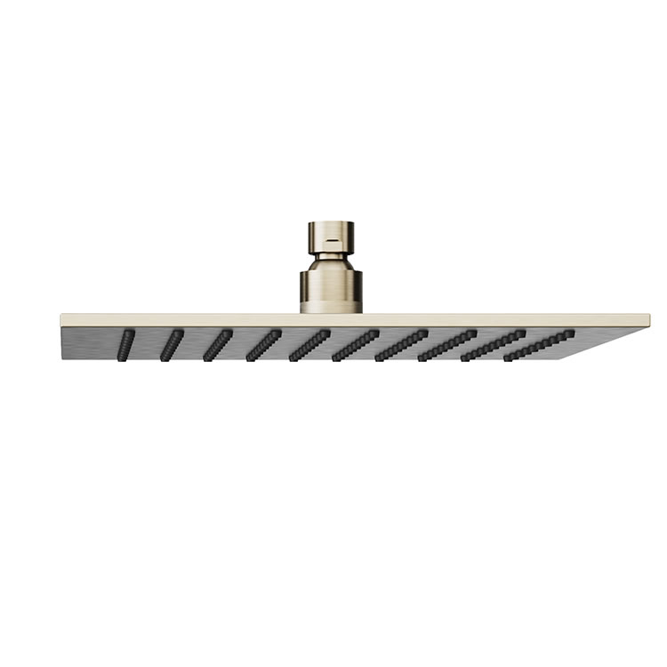 Photo of Abacus Emotion Brushed Nickel Square Fixed Shower Head