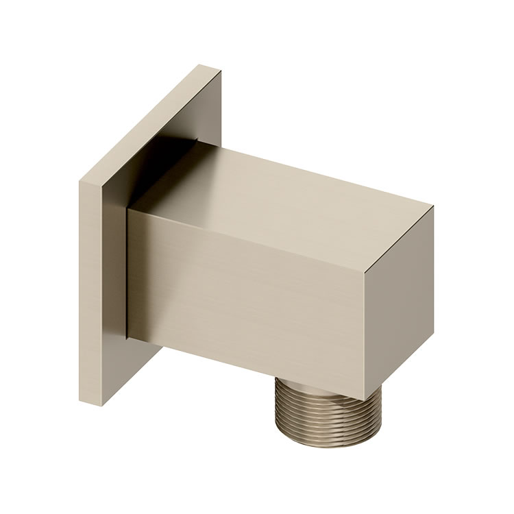 Photo of Abacus Emotion Brushed Nickel Square Wall Outlet