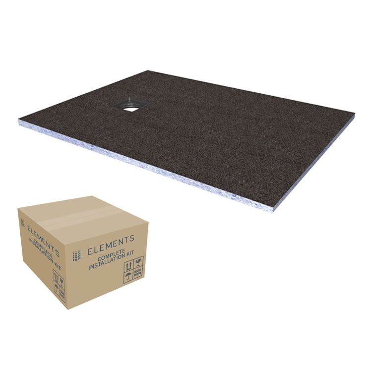 Photo of Abacus Elements 1400 x 900mm Level Access 30mm Shower Tray Kit with End Drain