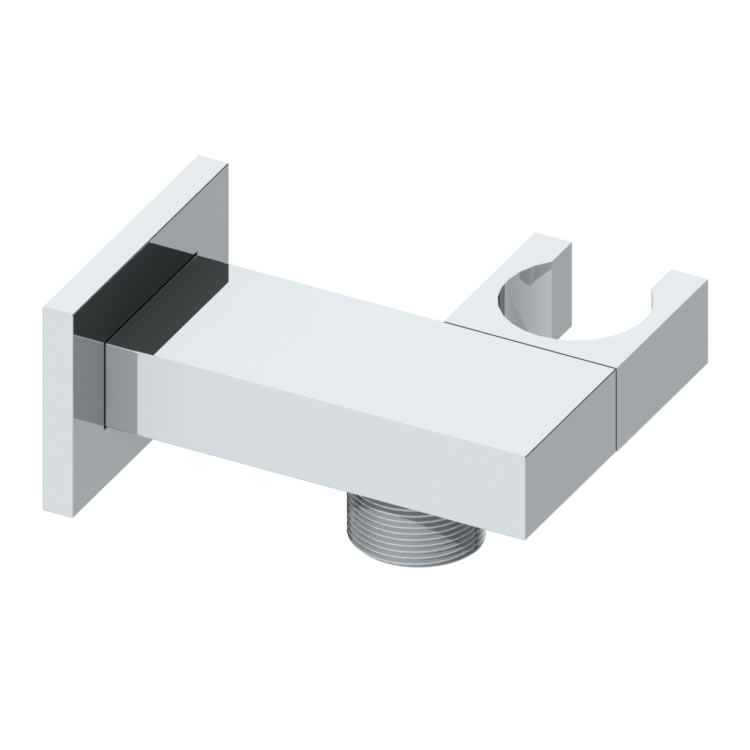 Photo of Abacus Emotion Chrome Square Wall Outlet & Holder