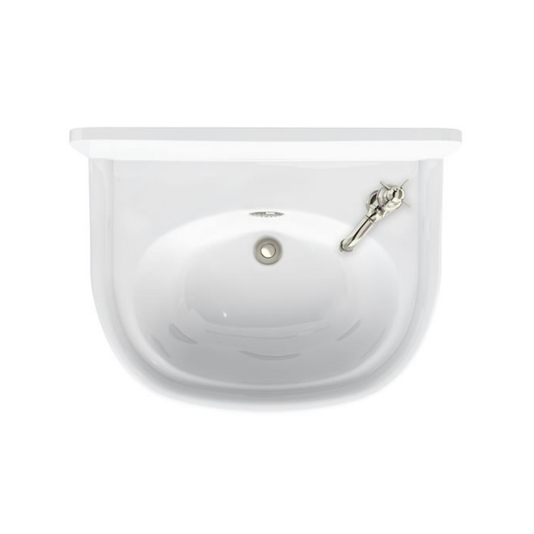 Arcade 500mm Cloakroom Basin with 1 Tap Holes