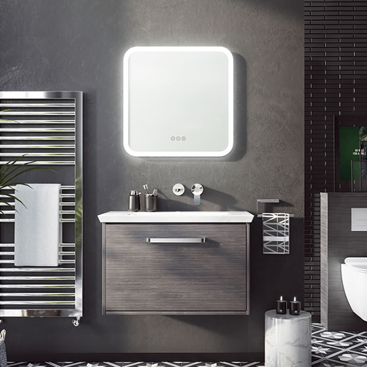 Photo of Crosswater Bauhaus Arena 700mm Steel Wall Hung Unit & Basin Lifestyle Image