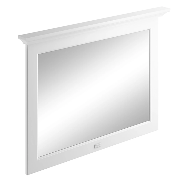 Photo of Bayswater Pointing White 1000mm Flat Bathroom Mirror