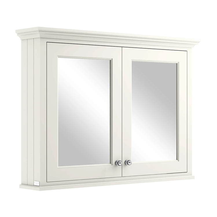 Photo of Bayswater Pointing White 1050mm Mirror Wall Cabinet