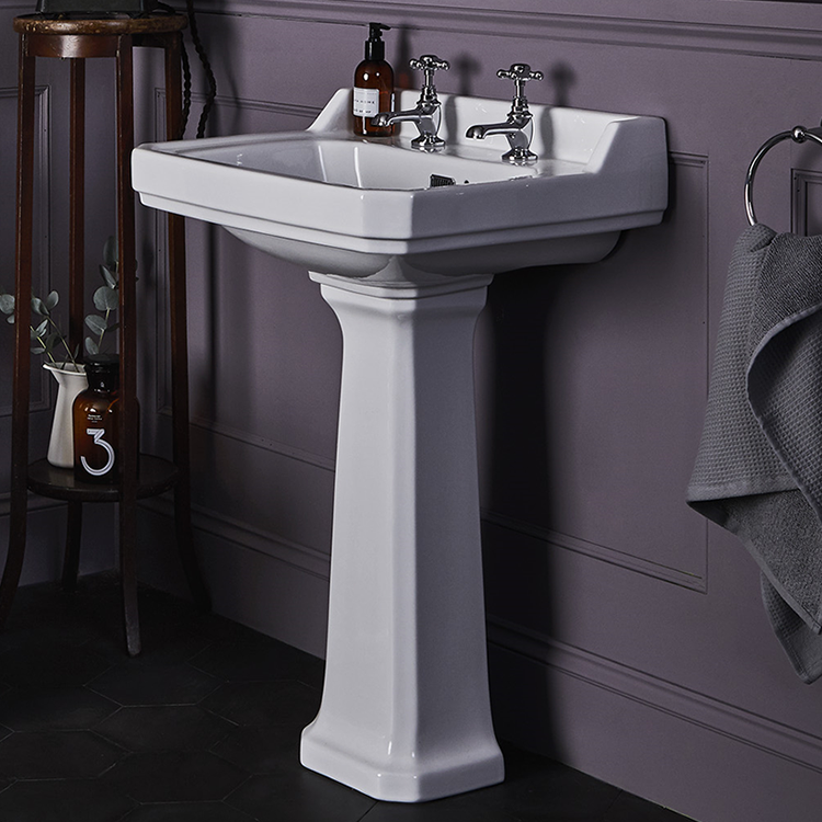 Photo of Bayswater Fitzroy 595mm Basin & Comfort Height Pedestal Lifestyle Image