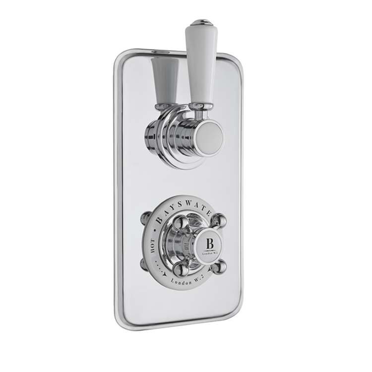 Photo of Bayswater White & Chrome Single Outlet Concealed Shower Valve