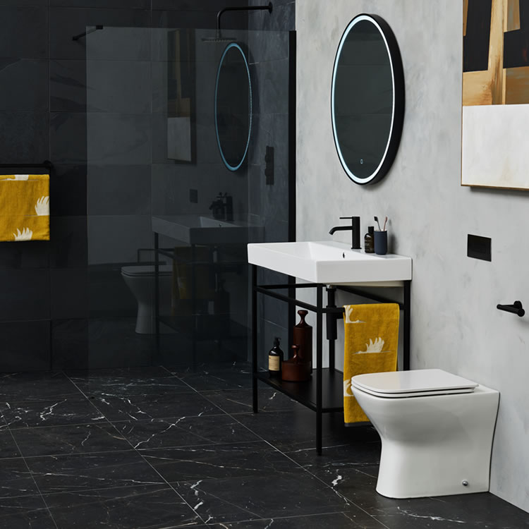 Lifestyle Photo of Britton Bathrooms Shoreditch Frame Unit & Back to Wall WC Set
