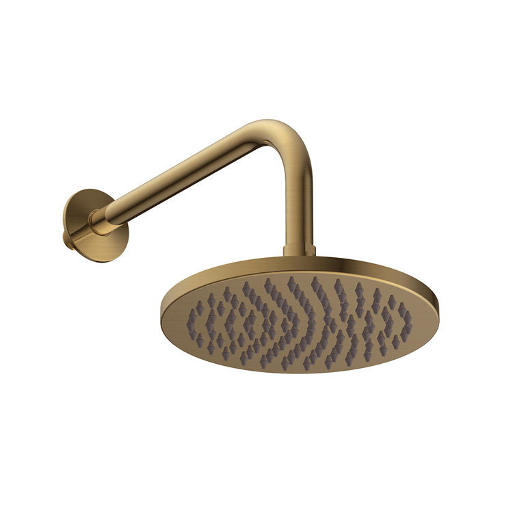 Photo of Britton Bathrooms Hoxton Brushed Brass Shower Head & Arm