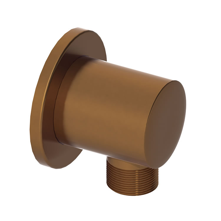 Photo of Abacus Emotion Brushed Brass Round Wall Outlet