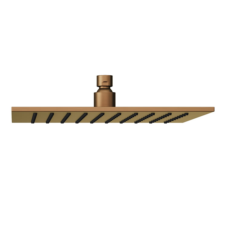 Photo of Abacus Emotion Brushed Bronze Square Fixed Shower Head Side On Angle