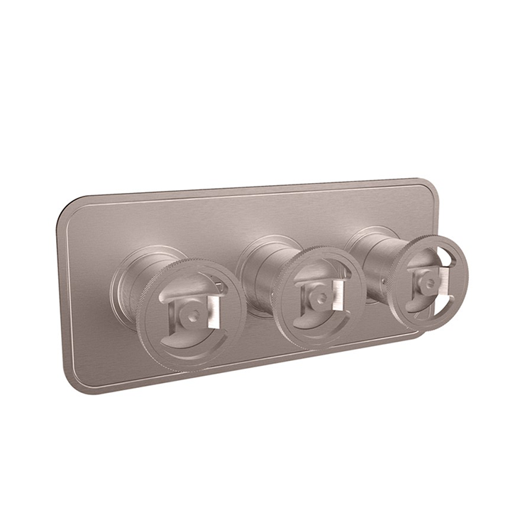 Photo of Crosswater Union Brushed Nickel Landscape Shower Valve With 3 Way Diverter