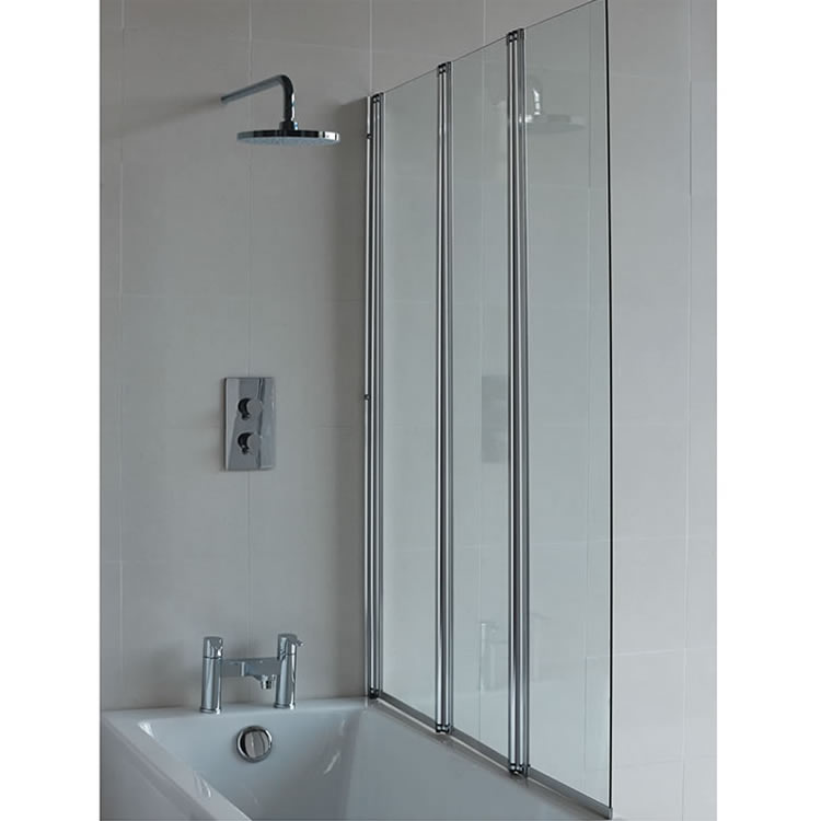 Cleargreen Two-fold Bath Screen with Fixed Panel
