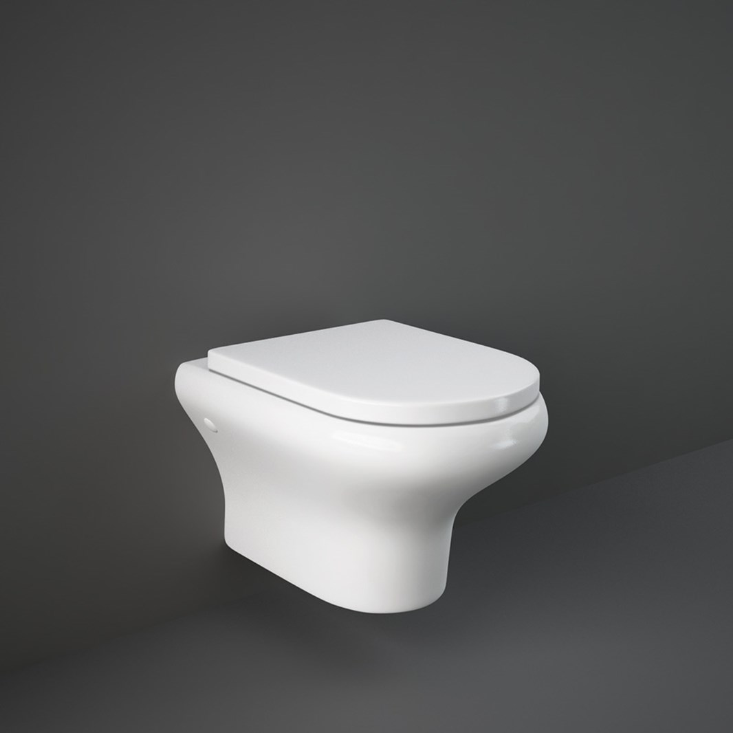 Photo of Rak Compact Rimless Wall Hung WC with Soft Close Seat