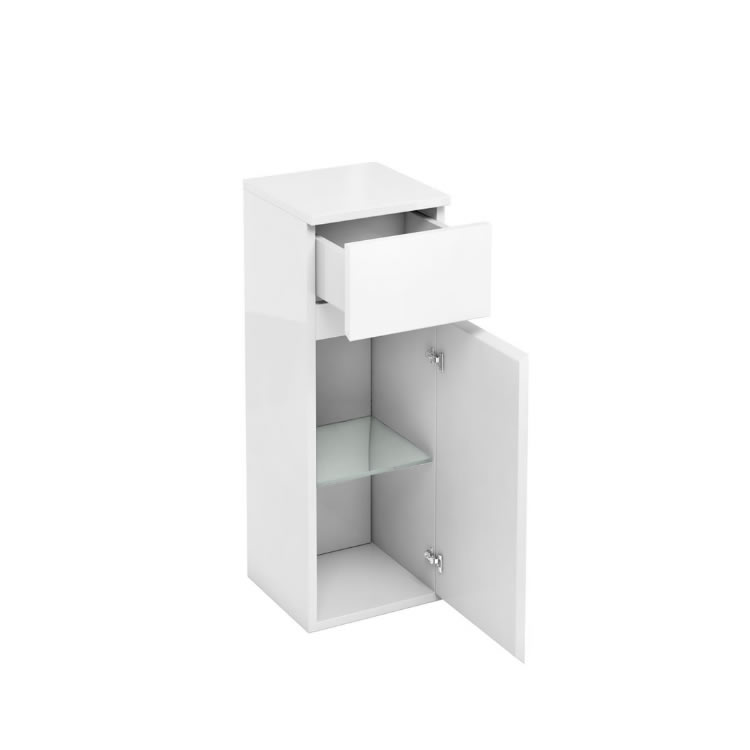 Aqua Cabinets D300 Fitted White 300mm Unit with Drawer