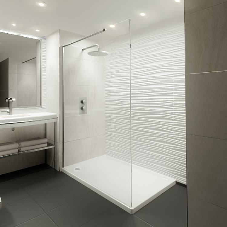 Elite 1200mm Walk In Shower Screen Amp Shower Tray 8mm