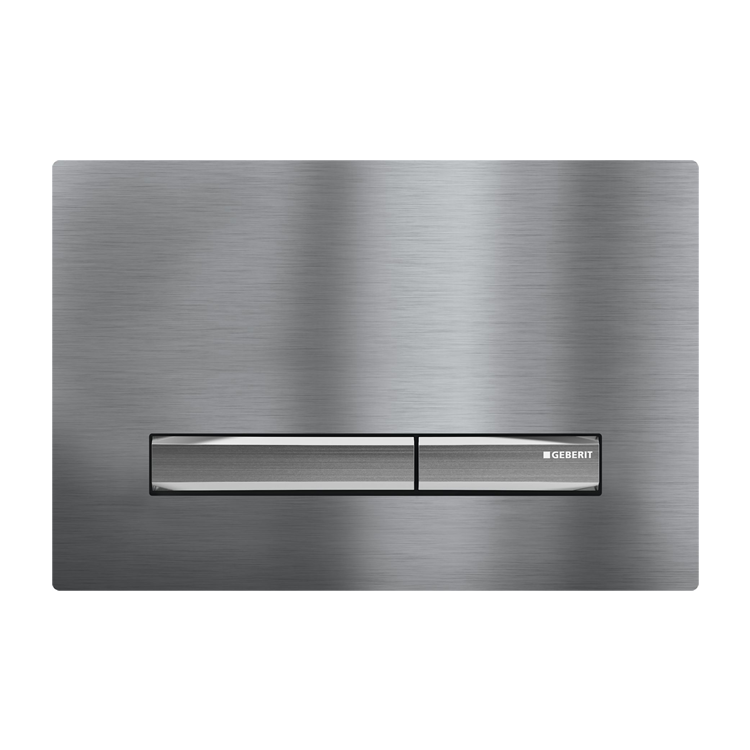 Photo of Geberit Sigma50 Flush Plate in Brushed Stainless Steel Finish