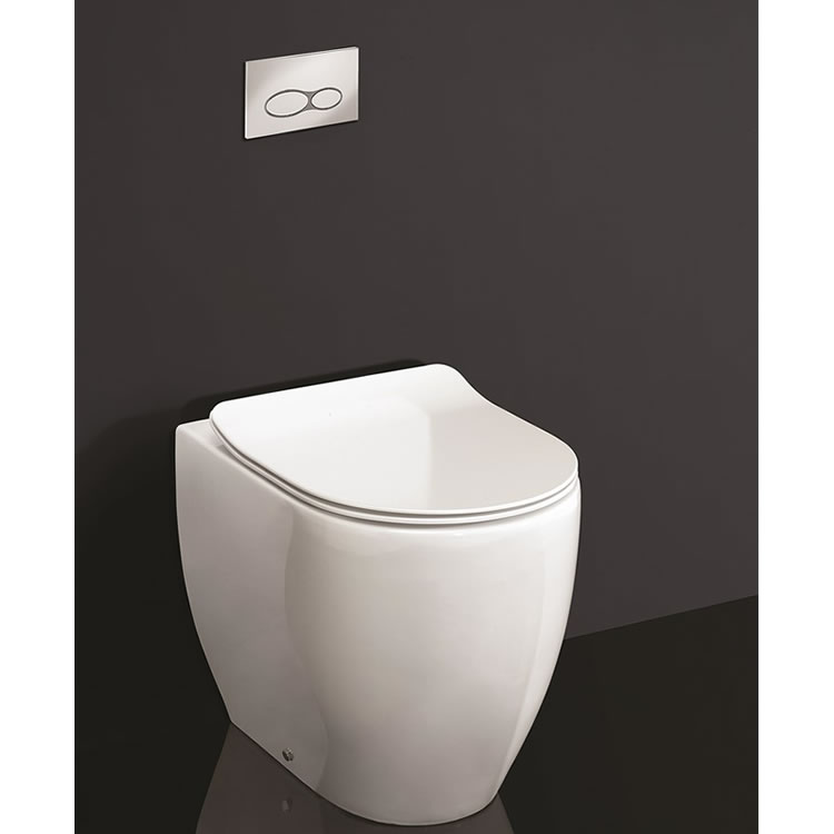 Photo of Crosswater Glide II Gloss White Rimless Back to Wall WC & Seat